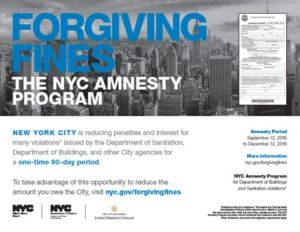 NYC amnesty program flyer